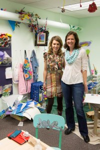 Nicole pictured with Lisa Donohue-Olivieri, first generation Emerald Sketch Art therapy Responder